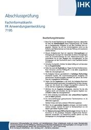 ihk prüfung fachinformatiker anwendungsentwicklung download