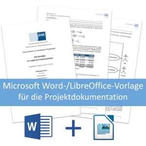 Microsoft Word-/LibreOffice-Vorlage für die Projektdokumentation der IT-Berufe - Anwendungsentwickler-Podcast