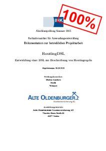 Deckblatt der Projektdokumentation von Markus Amshove