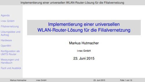 Projektpräsentation Fachinformatiker Systemintegration Markus Hutmacher