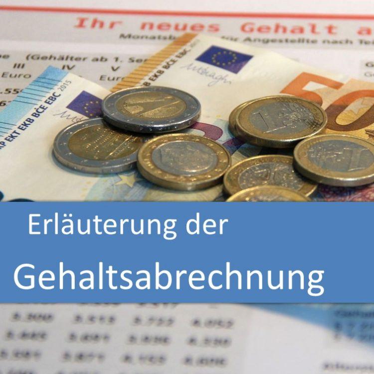 Erläuterung der Gehaltsabrechnung