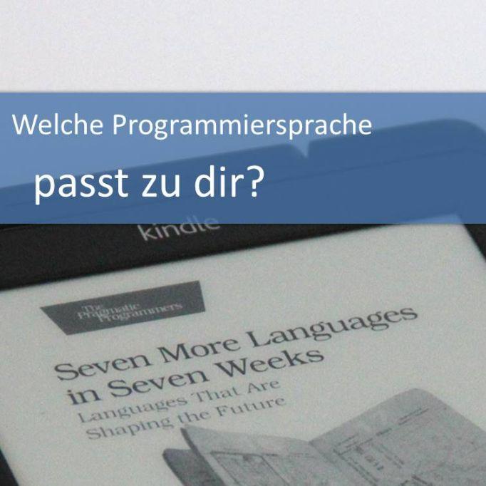 Welche Programmiersprache passt zu dir?
