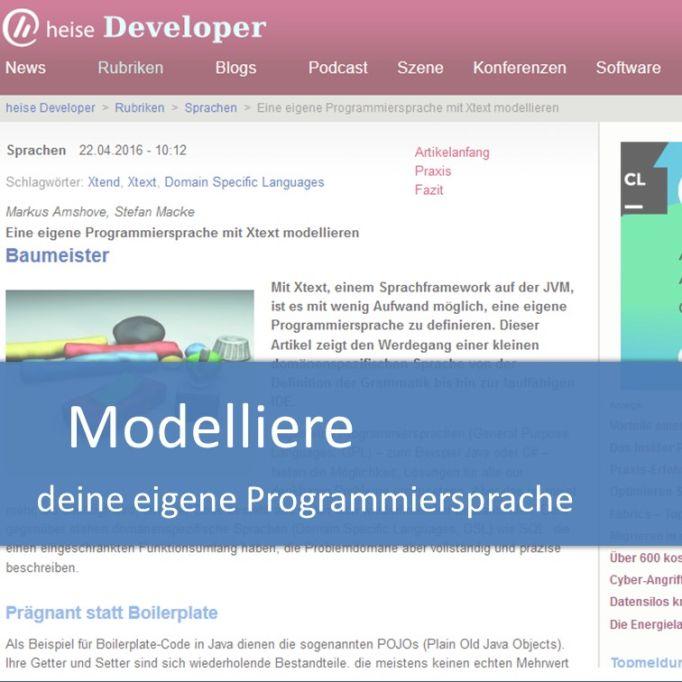 Modelliere deine eigene Programmiersprache