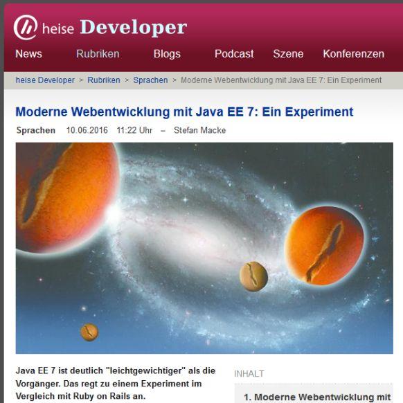 Moderne Webentwicklung mit Java EE 7