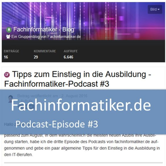 Fachinformatiker-Podcast #3