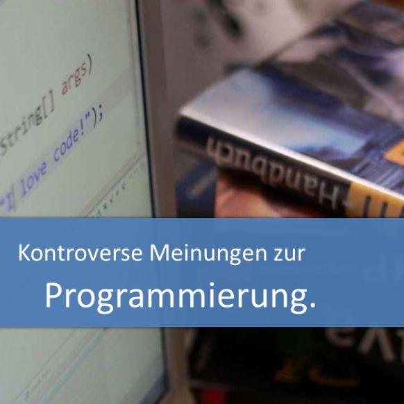 Kontroverse Meinungen zur Programmierung