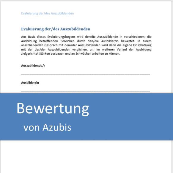 Bewertung von Azubis
