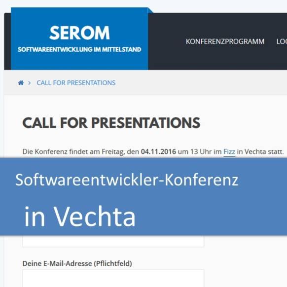 Call for Presentations - Softwareentwicklung im Mittelstand