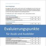Evaluierungspunkte für Azubi und Ausbilder