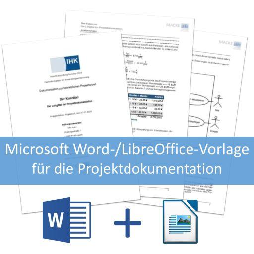 Vorlage für die Projektdokumentation der IT-Berufe mit LibreOffice