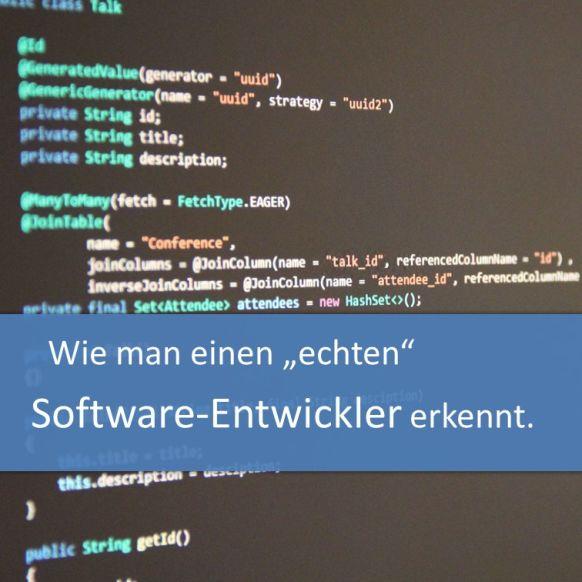 Wie man einen echen Software-Entwickler erkennt