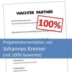 Projektdokumentation von Johannes Kreiner bewertet mit 100%