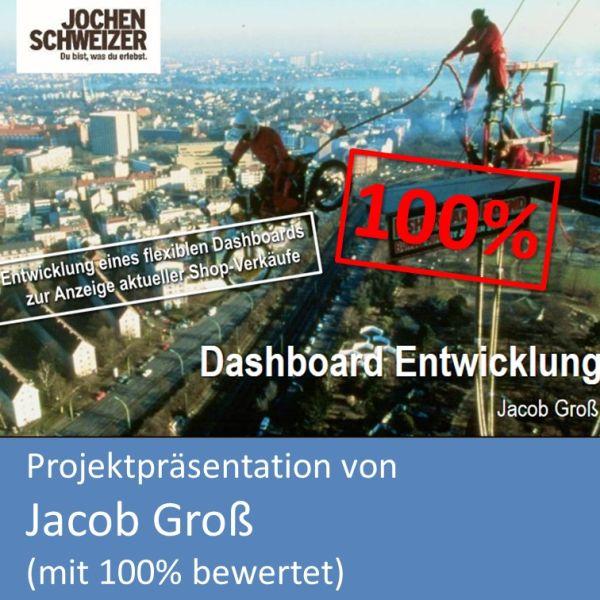 Titelfolie Projektpräsentation Fachinformatiker Anwendungsentwicklung Jacob Groß