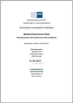 Deckblatt der Projektdokumentation von Alexander Smoll