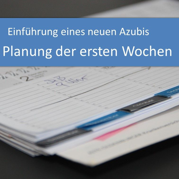 Einführung eines neuen Azubis: Planung der ersten Wochen