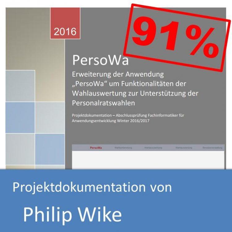Projektdokumentation Fachinformatiker Anwendungsentwicklung 2016 von Philip Wike