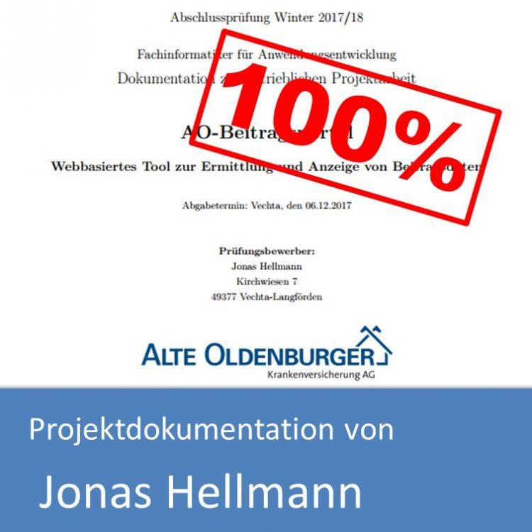 Projektdokumentation Fachinformatiker Anwendungsentwicklung 2017 von Jonas Hellmann