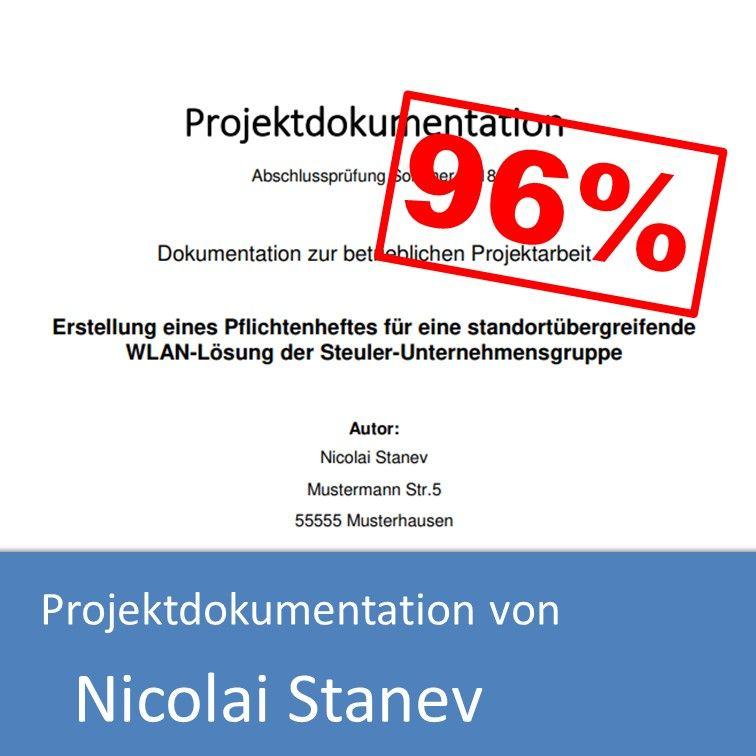 Projektdokumentation Informatikkaufmann 2018 Nicolai Stanev