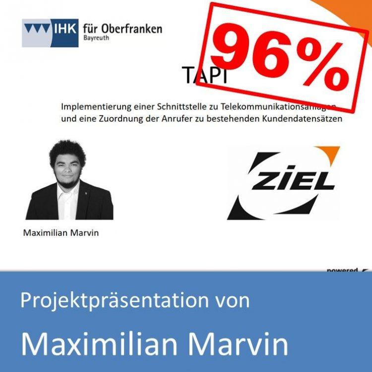 Projektpräsentation Fachinformatiker Anwendungsentwicklung 2018 Maximilian Marvin