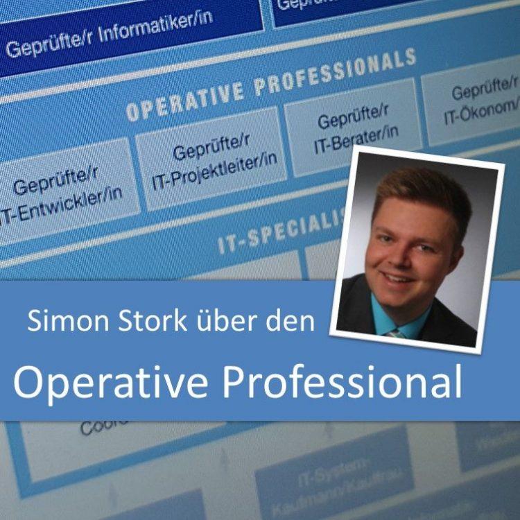 Simon Stork im Interview über die IHK-Weiterbildung zum Operative Professional