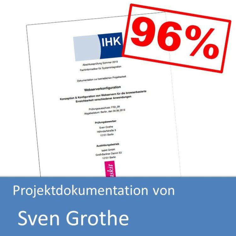 Projektdokumentation im Bereich Systemintegration von Sven Grothe (mit 96% bewertet)