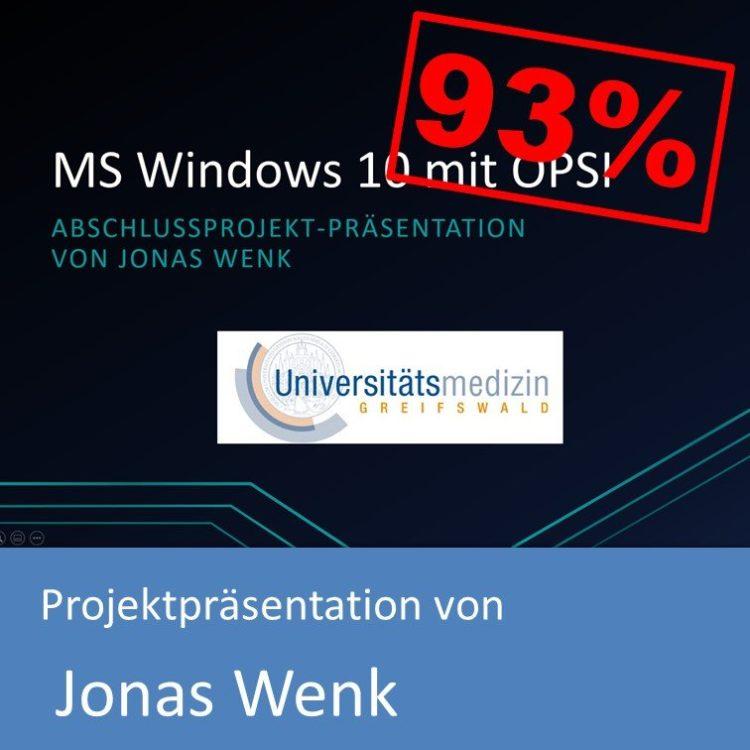 Projektpräsentation im Bereich Systemintegration von Jonas Wenk (mit 93% bewertet)