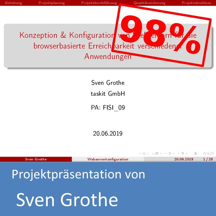 Projektpräsentation im Bereich Systemintegration von Sven Grothe (mit 98% bewertet)