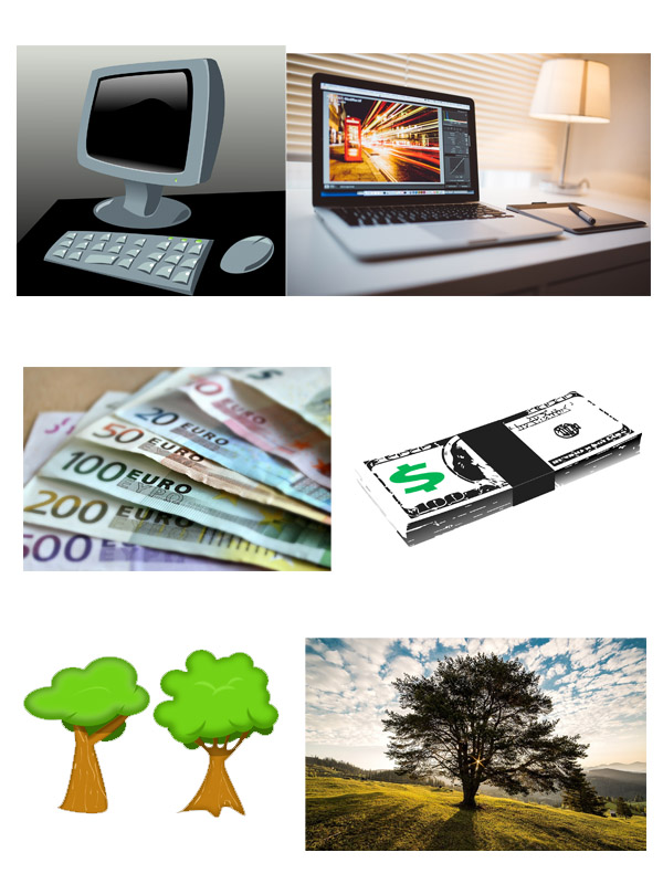 Cliparts vs. Bilder