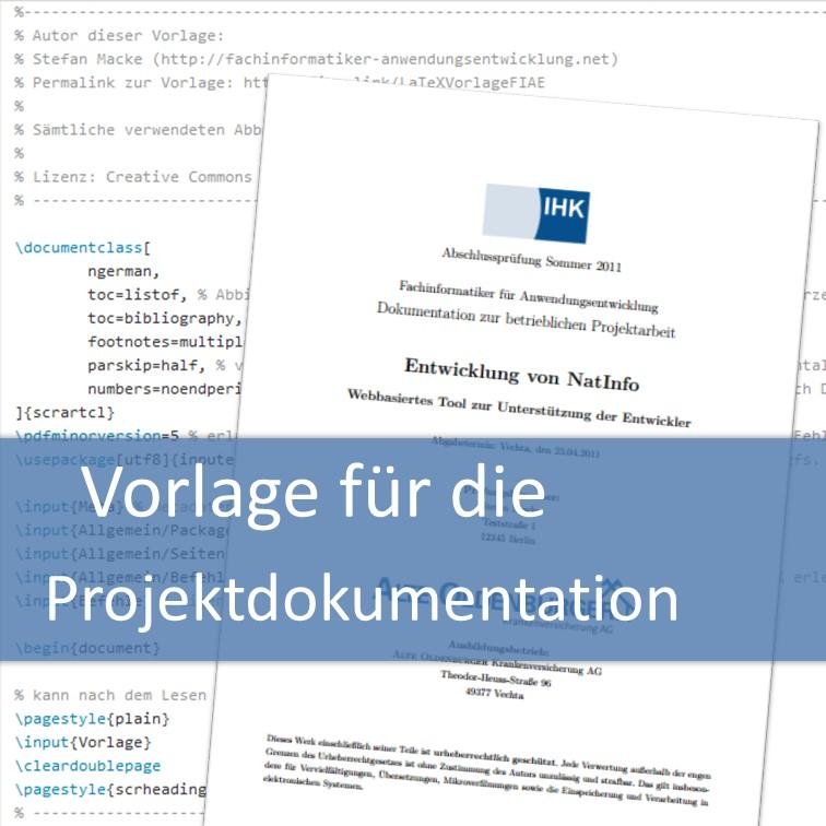 Vorlage für die Projektdokumentation