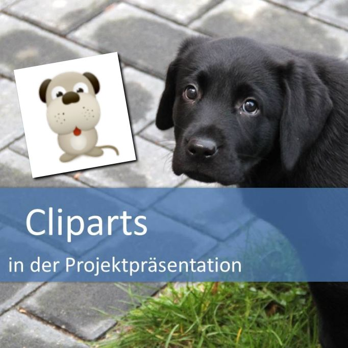 Cliparts in der Projektpräsentation