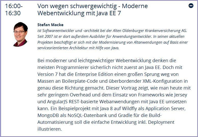 Vortrag Stefan Macke Heise Developer World 2016