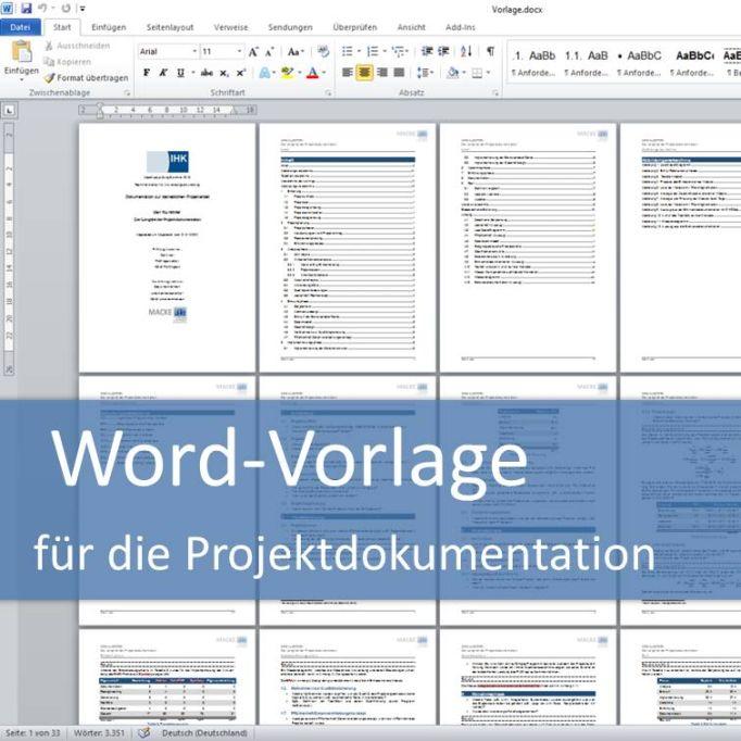 Word-Vorlage für die Projektdokumentation der IT-Berufe