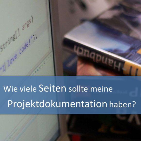 Seitenzahl der Projektdokumentation