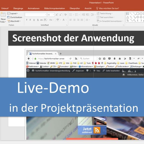 Live-Demo in der Projektpräsentation