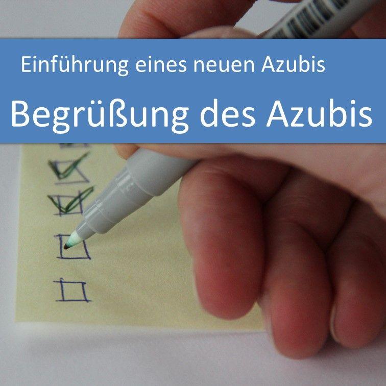 Einführung eines neuen Azubis: Begrüßung