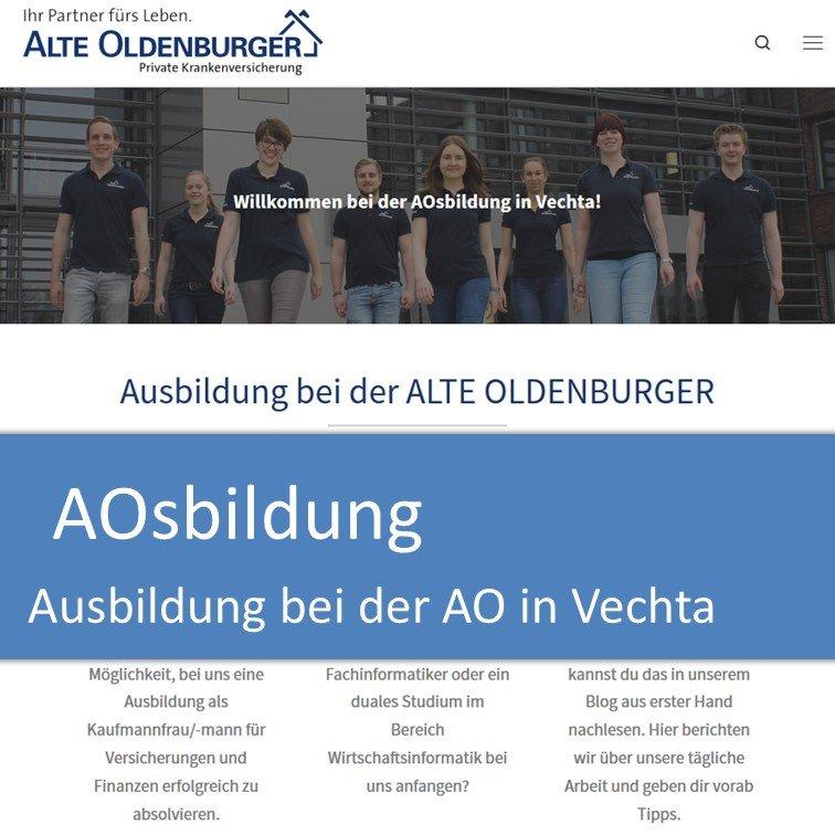 AOsbildung - Ausbildung bei der ALTE OLDENBURGER Krankenversicherung AG