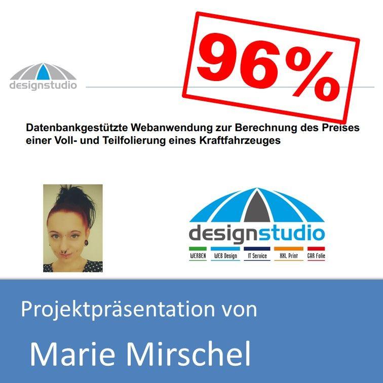 Projektpräsentation Fachinformatiker Anwendungsentwicklung 2017 von Marie Mirschel