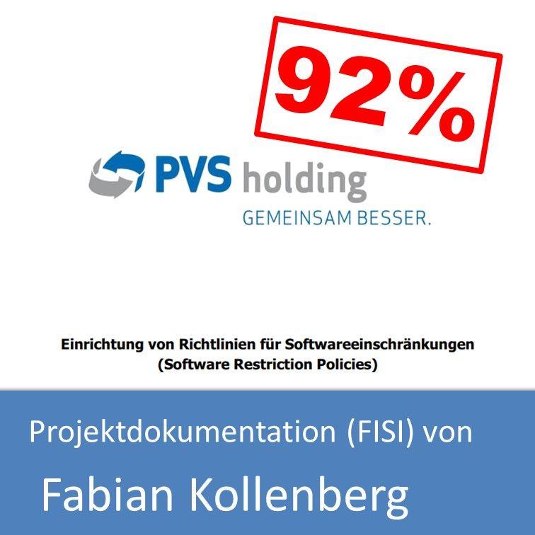 Projektdokumentation Fachinformatiker Systemintegration 2017 von Fabian Kollenberg