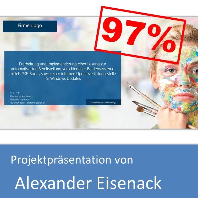 Projektpräsentation Fachinformatiker Systemintegration 2019 Alexander Eisenack