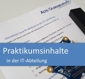 Praktikumsinhalte in der IT-Abteilung
