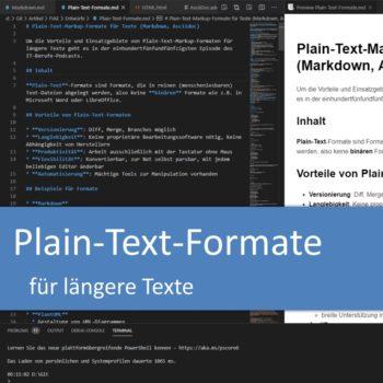 Plain-Text-Markup-Formate für längere Texte