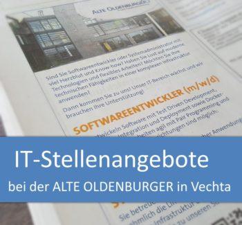 IT-Stellenangebote bei der ALTE OLDENBURGER in Vechta: Softwareentwickler und Systemadministrator