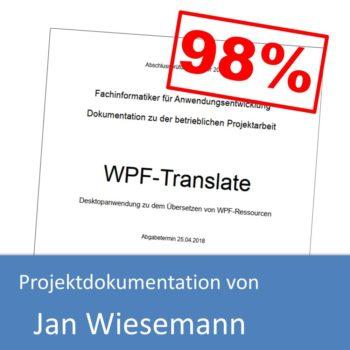 Projektdokumentation von Jan Wiesemann (mit 98% bewertet)