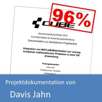Projektdokumentation von Davis Jahn (mit 96% bewertet)