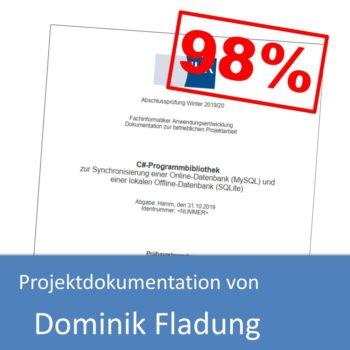 Projektdokumentation von Dominik Fladung (mit 98% bewertet)