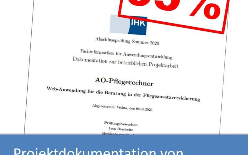Projektdokumentation von Leon Brachwitz (mit 95% bewertet)