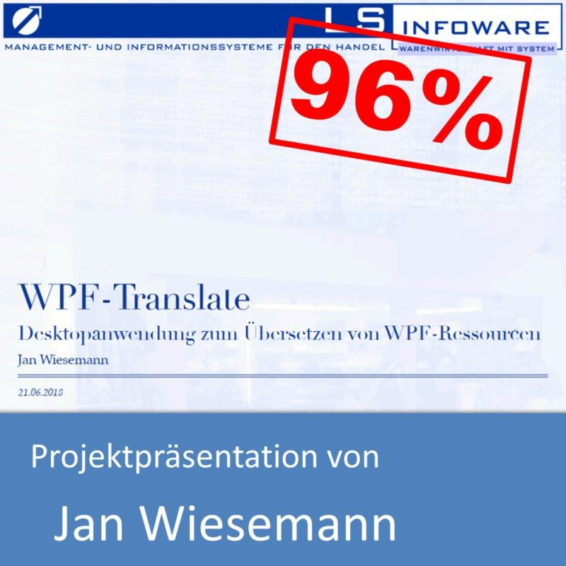 Projektpräsentation von Jan Wiesemann (mit 96% bewertet)