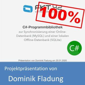 Projektpräsentation von Dominik Fladung (mit 100% bewertet)