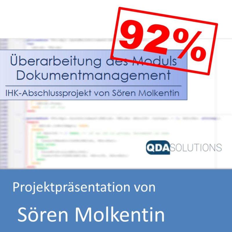 Projektpräsentation von Sören Molkentin (mit 92% bewertet)