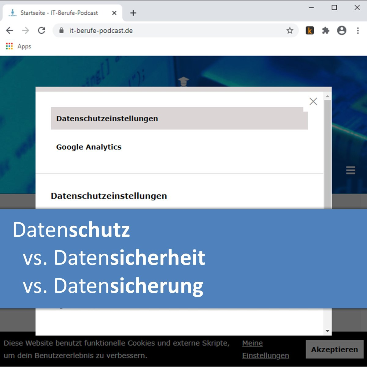 Datenschutz vs. Datensicherheit vs. Datensicherung
